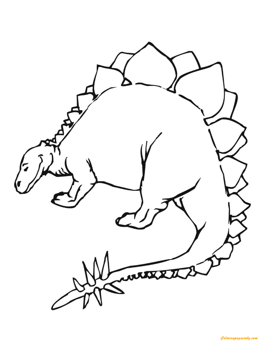 stegosaurus printable stegosaurus coloring pages getcoloringpagescom stegosaurus printable