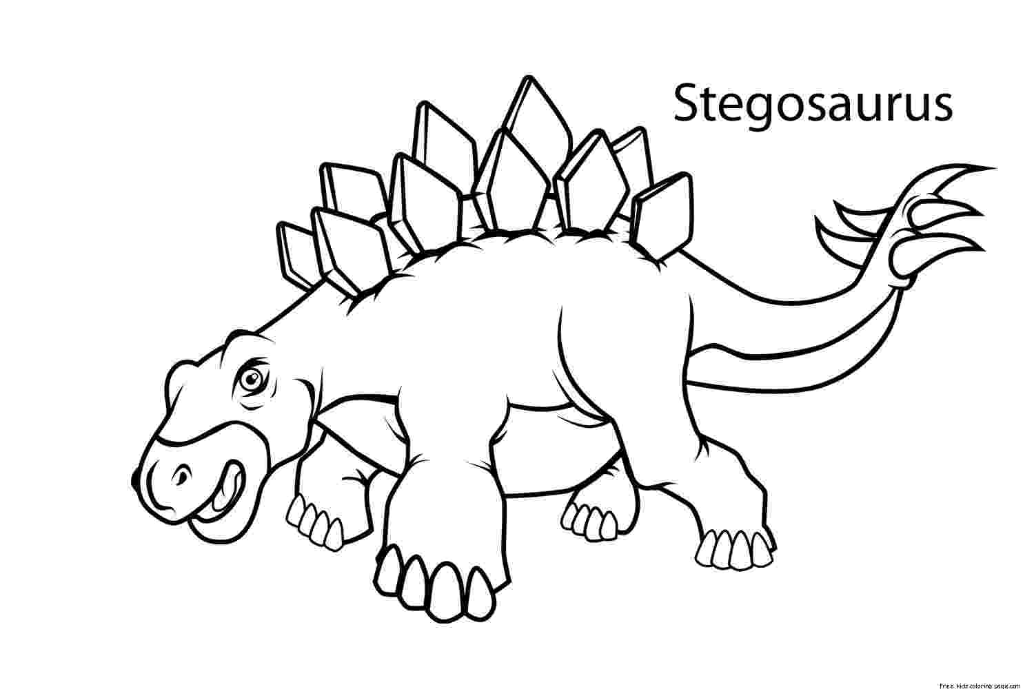 stegosaurus printable walking stegosaurus coloring pages hellokidscom stegosaurus printable