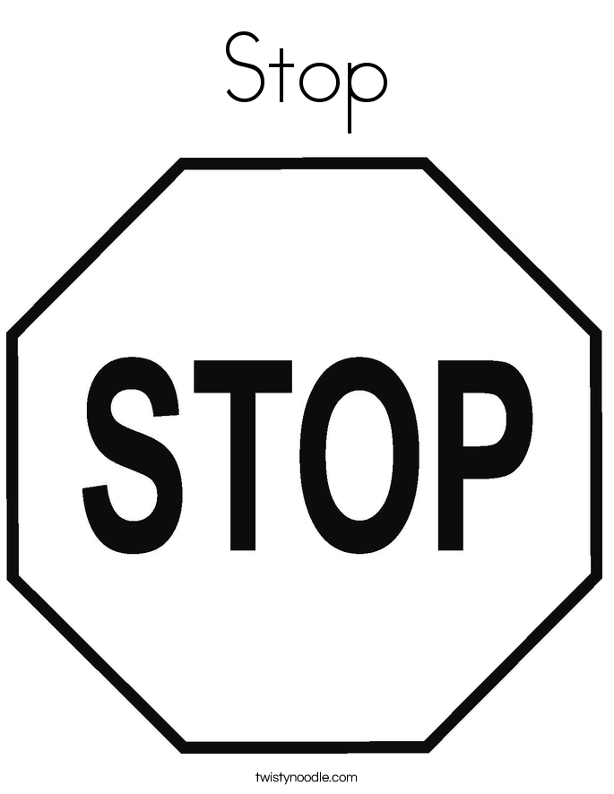 stop sign printable stop sign coloring page from traffic signs category stop printable sign