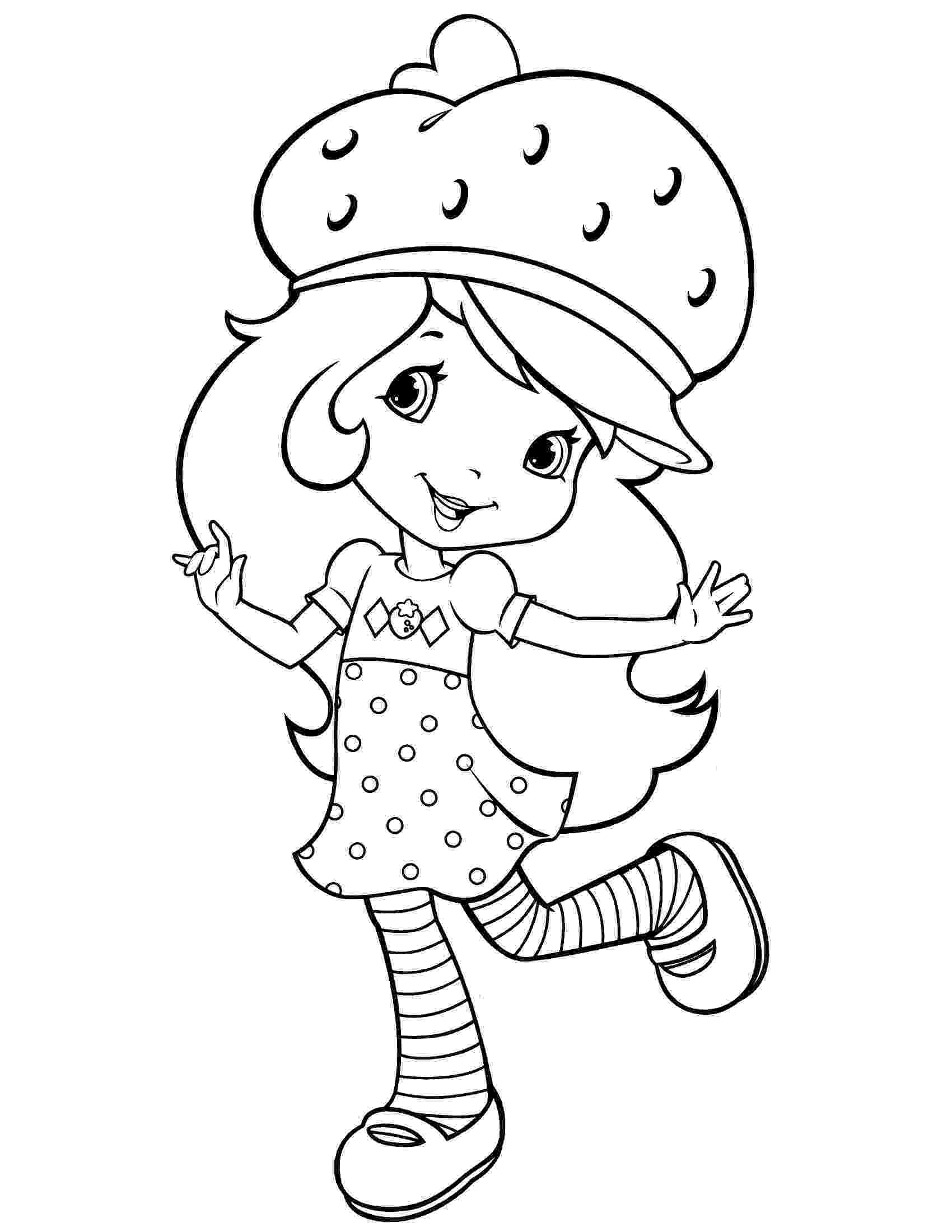 strawberry shortcake printable coloring pages free printable strawberry shortcake coloring pages for kids pages printable shortcake strawberry coloring