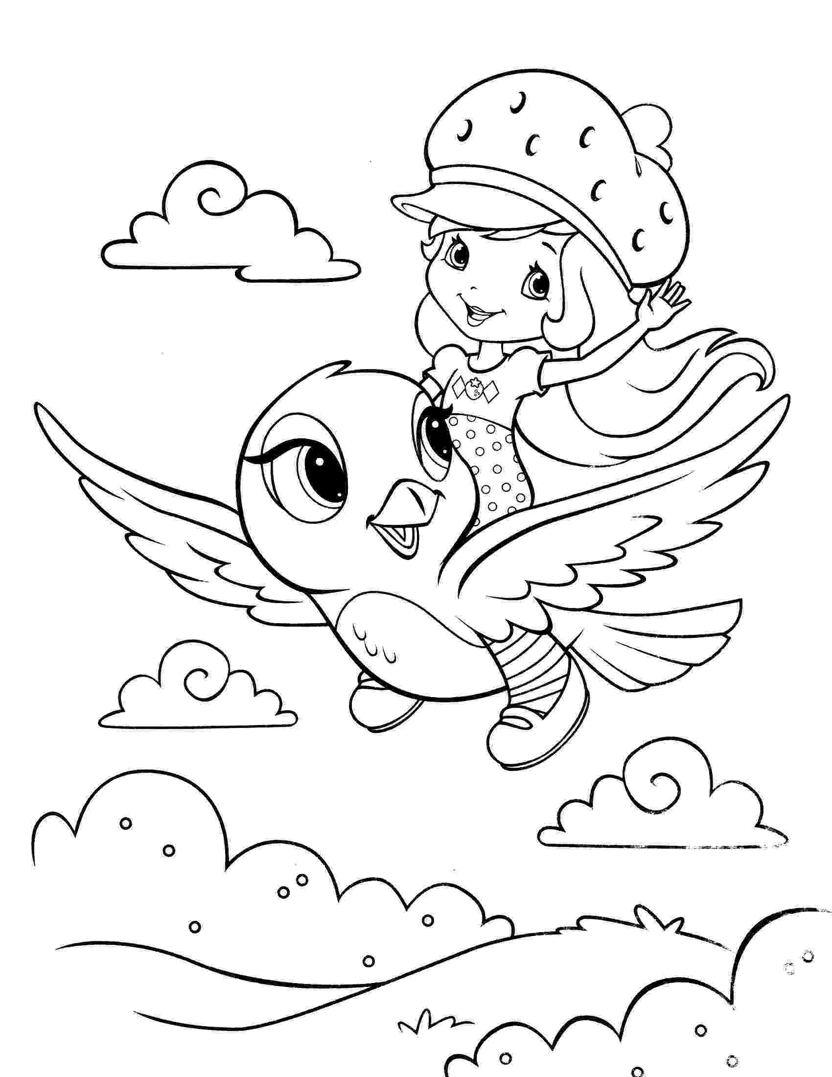 strawberry shortcake printable coloring pages strawberry shortcake with custard and butterfly coloring strawberry shortcake pages coloring printable