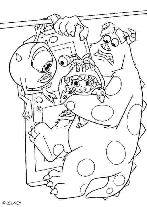 sulley coloring page mike sulley and boo coloring pages hellokidscom page sulley coloring