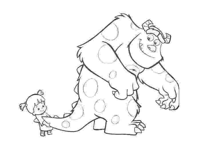 sulley coloring page sulley and boo coloring pages free coloring pages and coloring sulley page