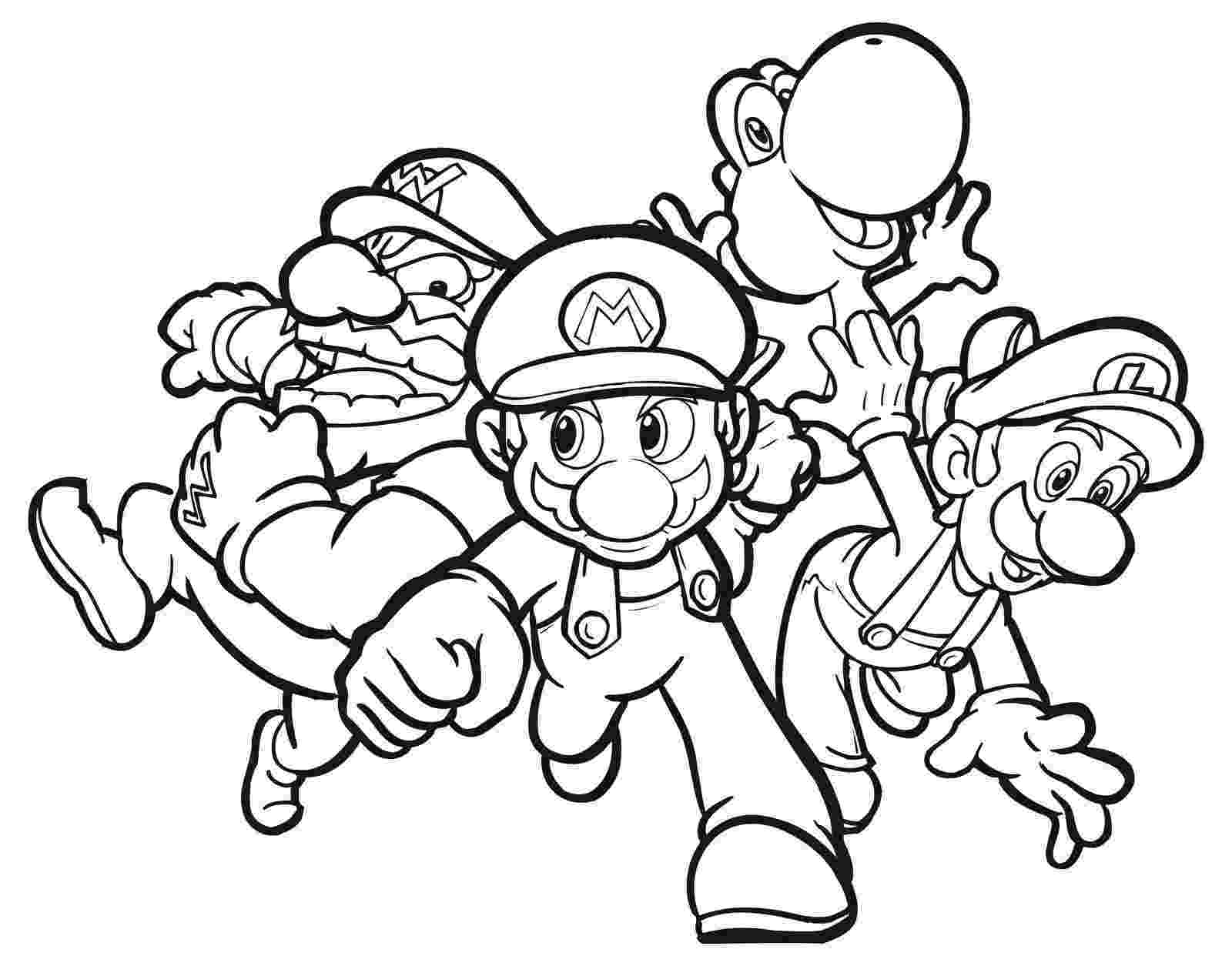super mario bros pictures to print and colour luigi from mario bros coloring page free printable super colour and bros pictures print mario to