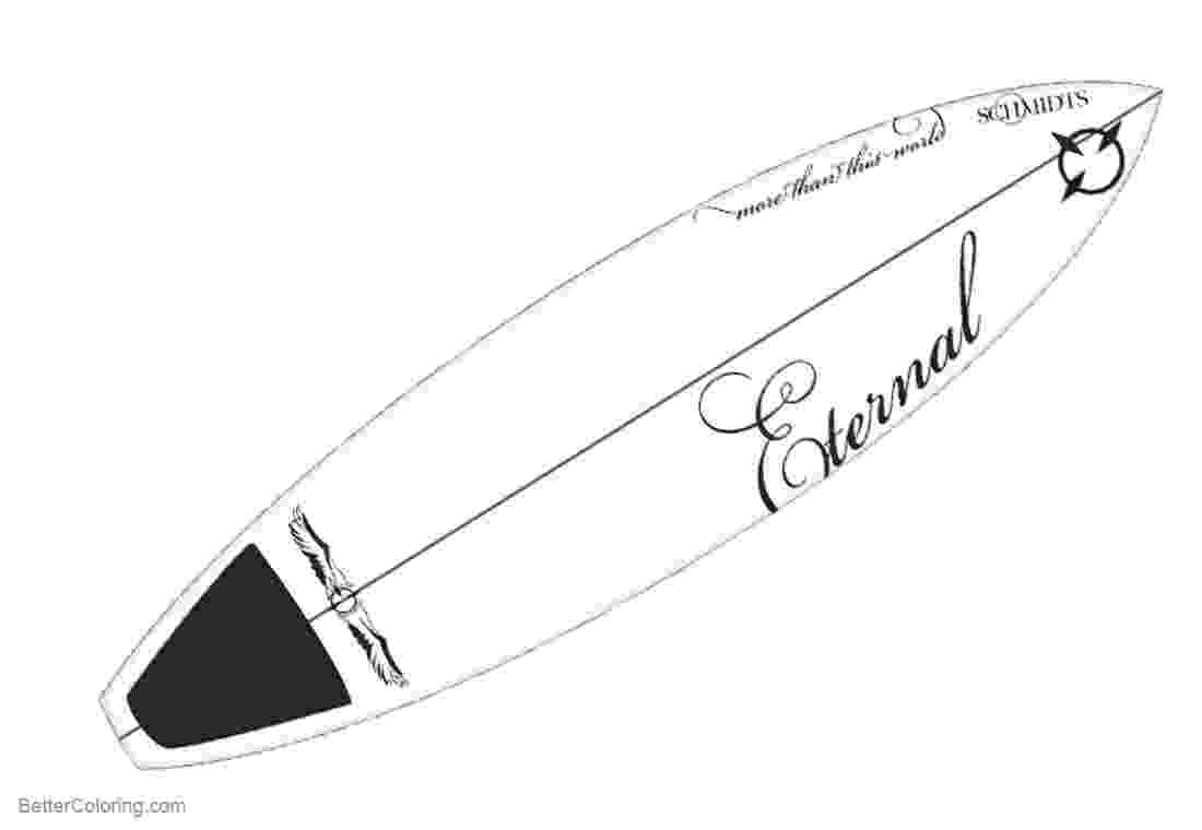 surfboard to color color the surf boards coloring page surfboard color to