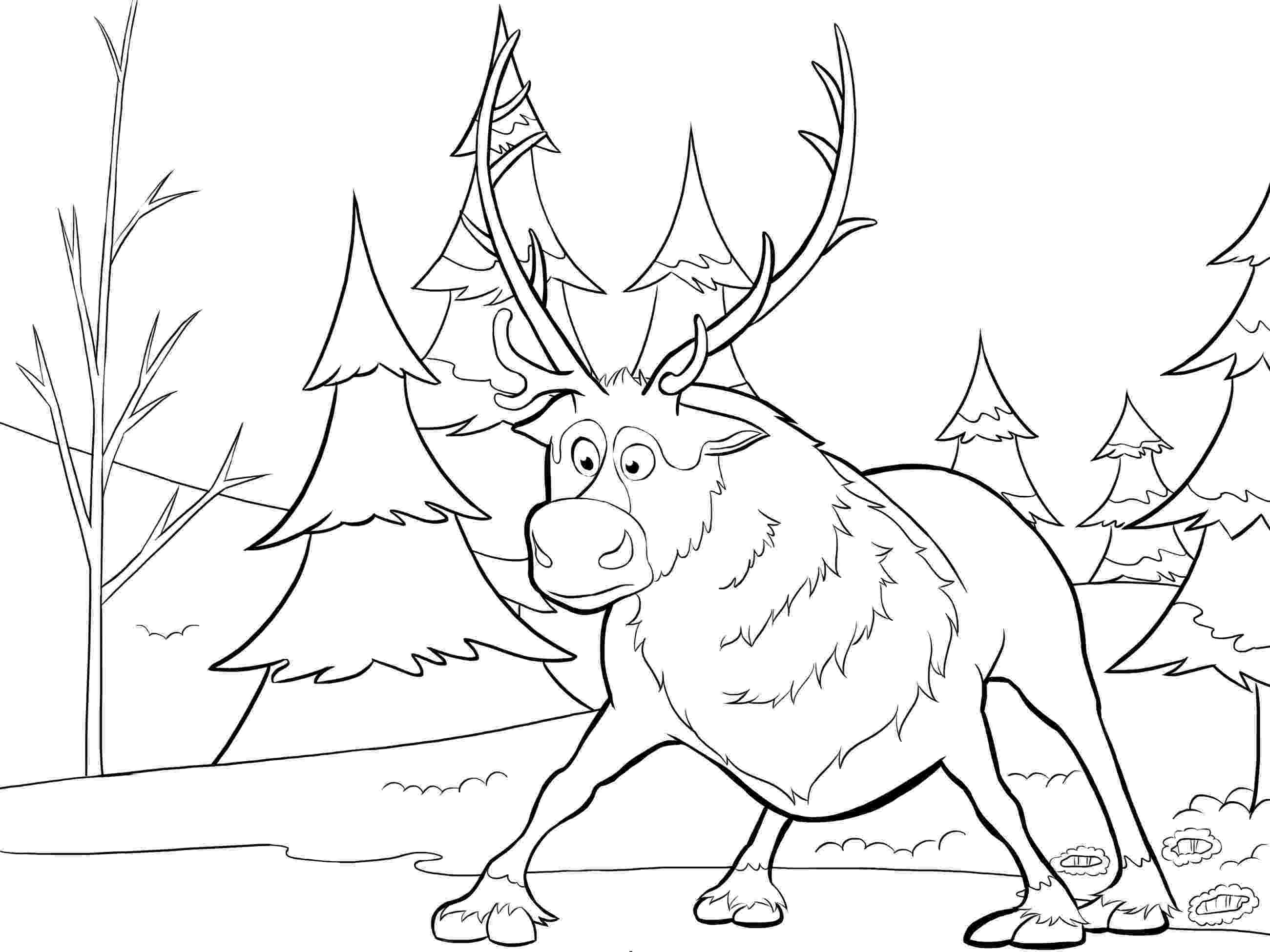 sven coloring pages frozen coloring sven as a cub frozen games sven pages coloring