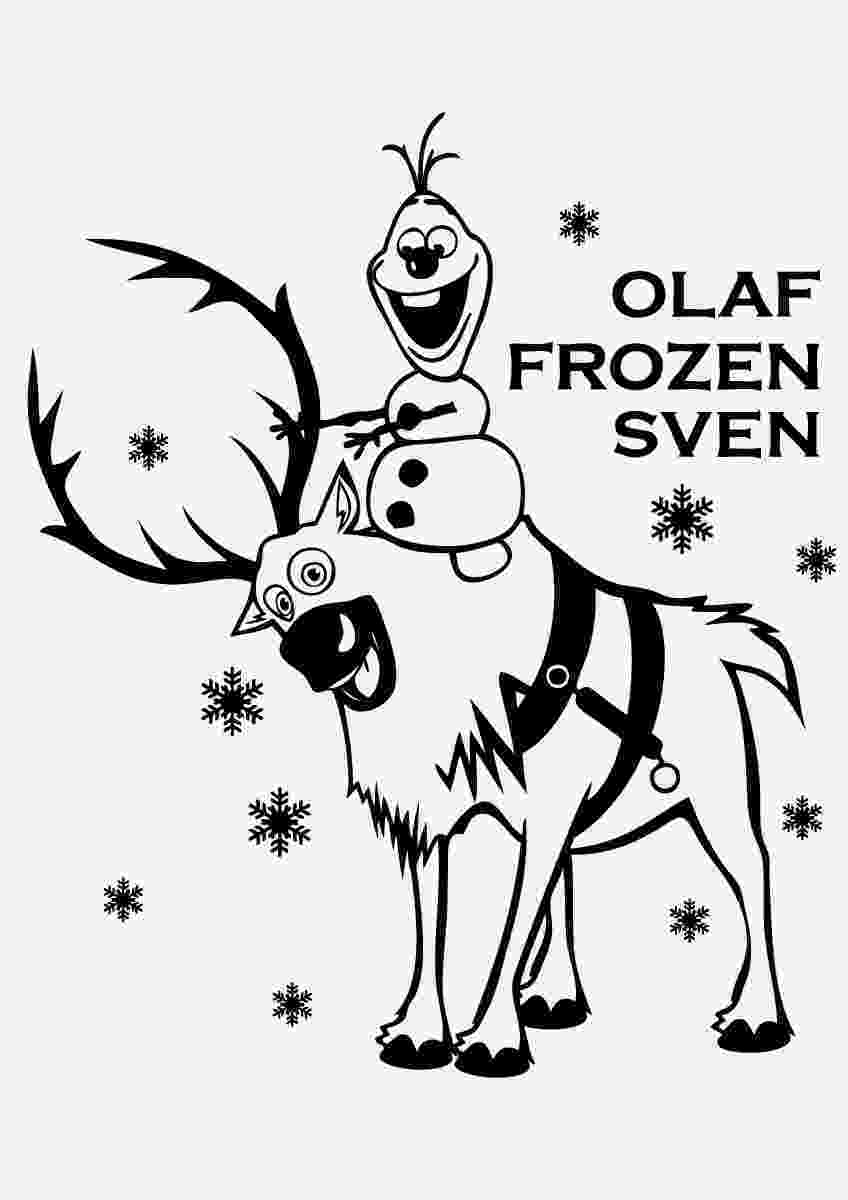 sven coloring pages frozens olaf coloring pages best coloring pages for kids sven pages coloring