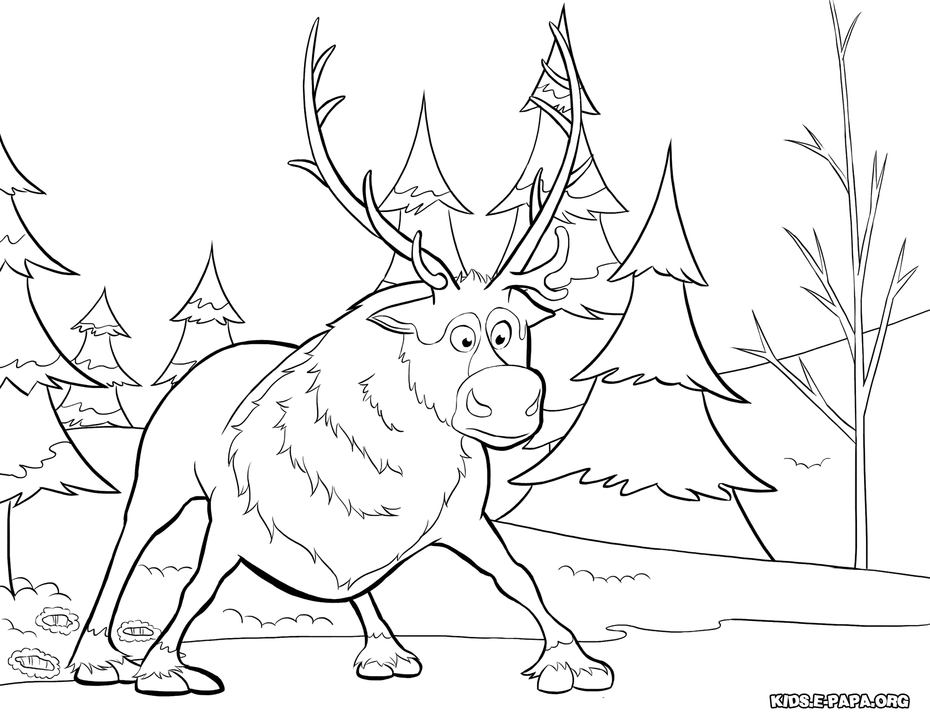 sven coloring pages kristoff and sven coloring page free printable coloring sven pages coloring