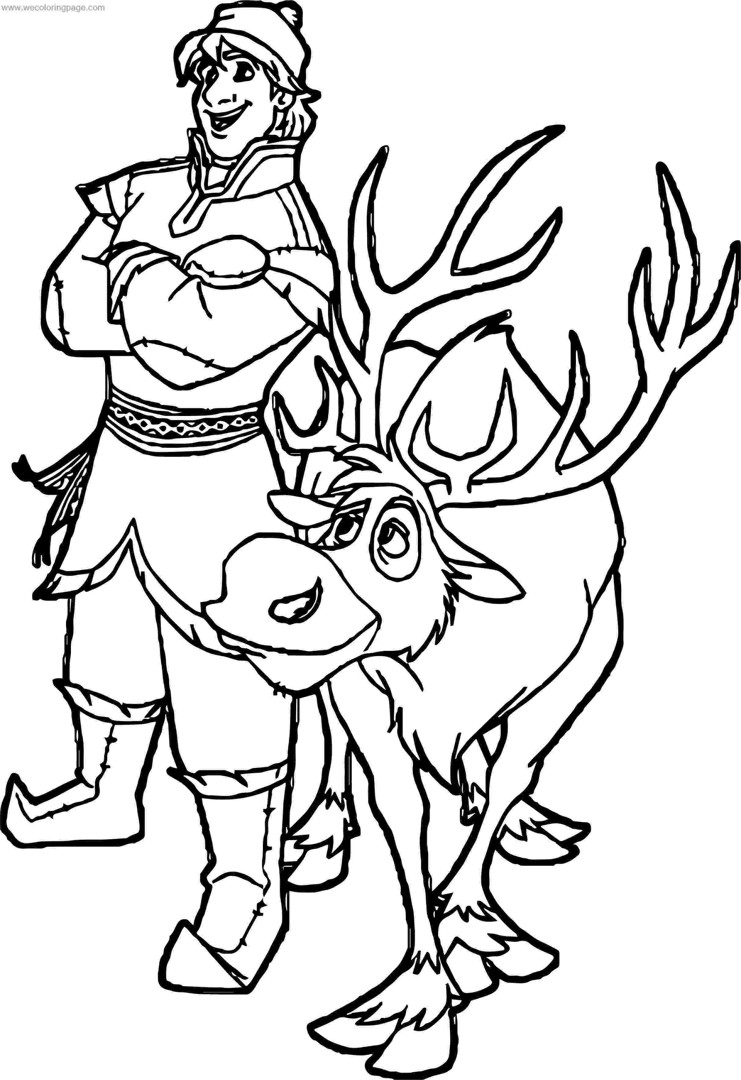 sven coloring pages reindeer sven from frozen coloring page book sheet pages coloring sven