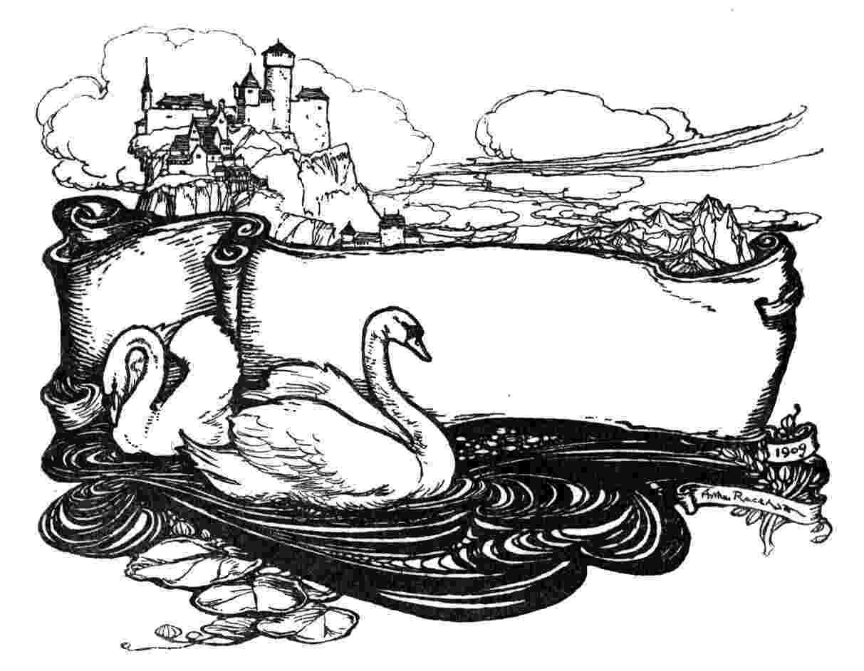 swan coloring swan drawing at getdrawings free download coloring swan