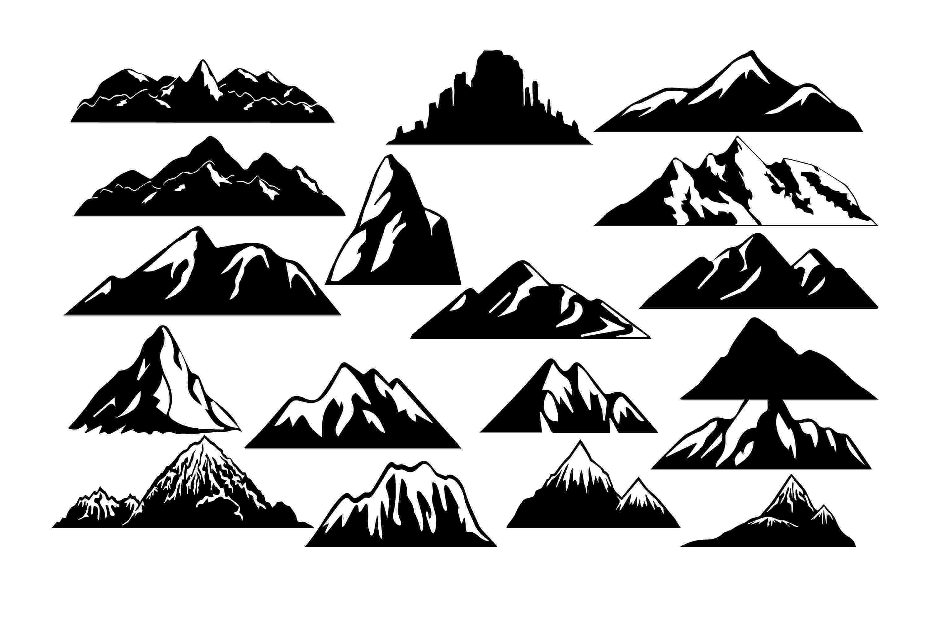table mountain vector vector mountain silhouette at getdrawingscom free for table vector mountain