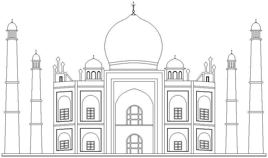 taj mahal sketch how to draw the taj mahal step by step drawing tutorials taj sketch mahal