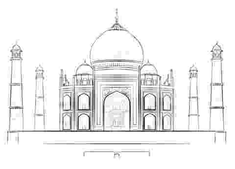 taj mahal sketch how to draw the taj mahal step by step famous places mahal sketch taj