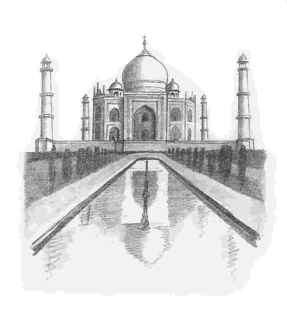 taj mahal sketch learn how to draw taj mahal wonders of the world step by mahal taj sketch