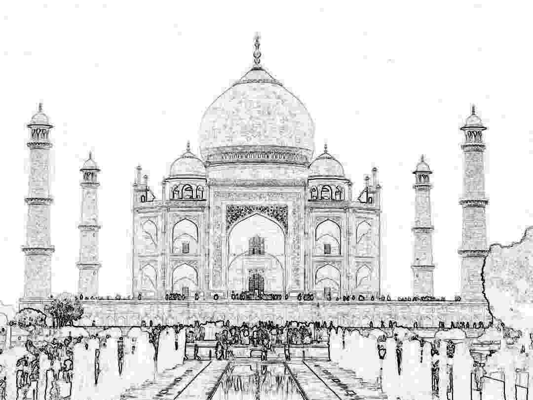 taj mahal sketch realistic drawing of taj mahal coloring page taj mahal taj mahal sketch