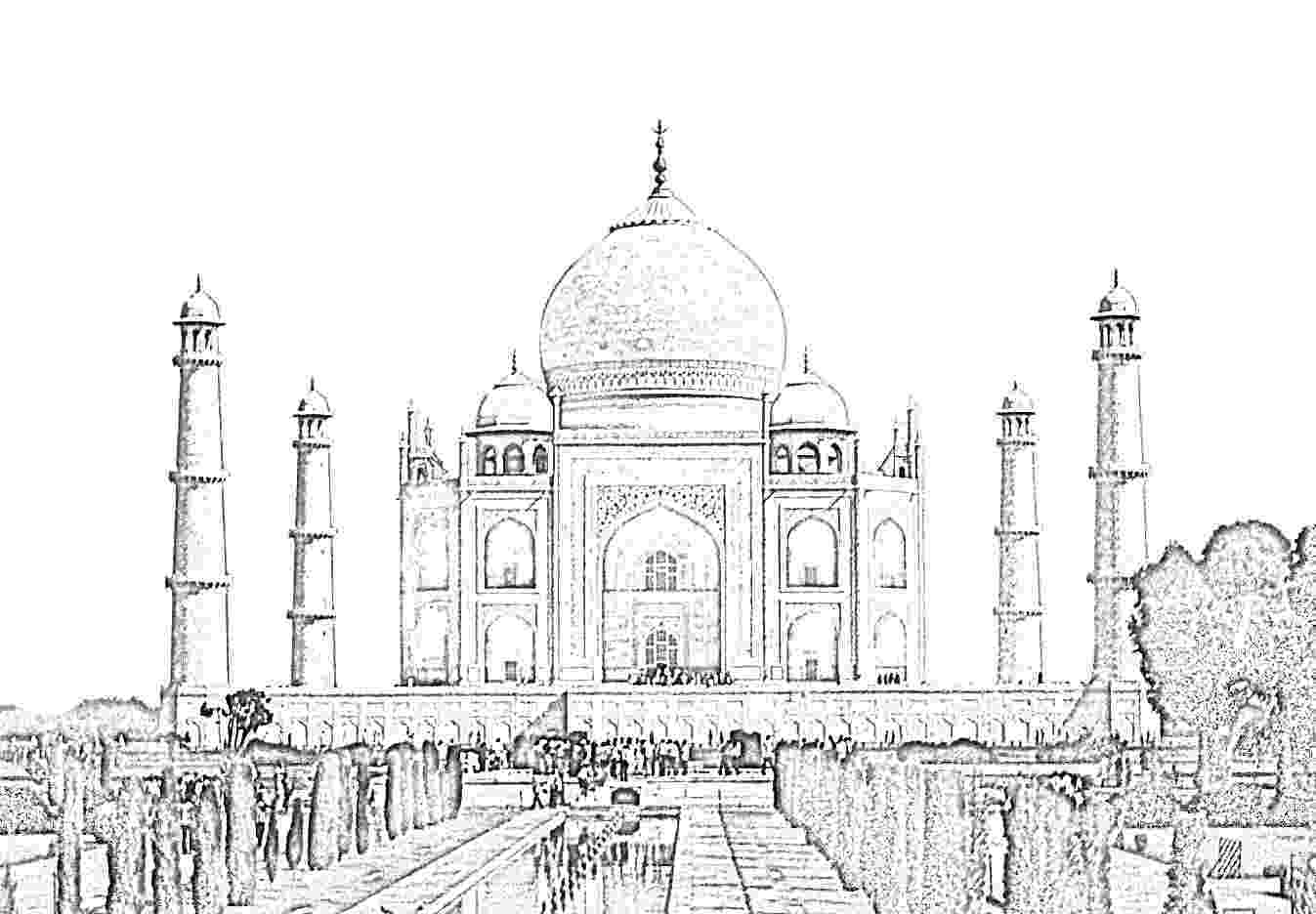 taj mahal sketch stock pictures taj mahal sketch and silhouettes mahal taj sketch