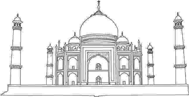taj mahal sketch taj mahal line art colouring pages taj mahal drawing for taj mahal sketch