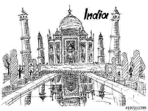 taj mahal sketch taj mahal sketch at paintingvalleycom explore taj mahal sketch