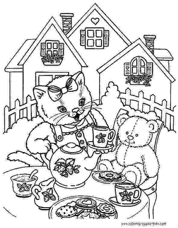 tea party coloring pages boston tea party drawing at getdrawingscom free for tea coloring party pages
