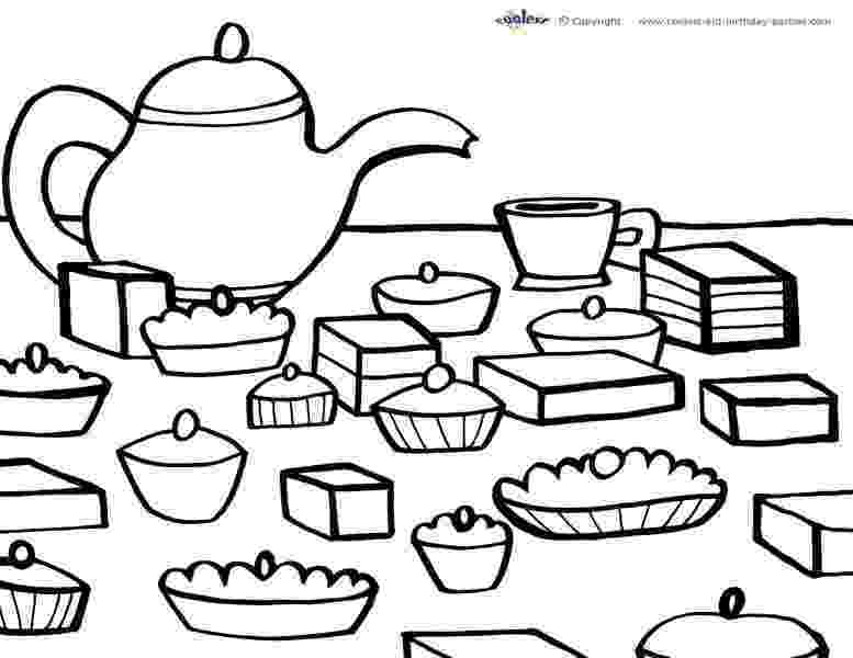 tea party coloring pages printable tea party coloring page 5 coolest free tea pages party coloring