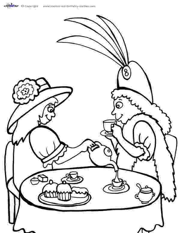 tea party coloring pages tea party coloring page coloring home tea pages coloring party