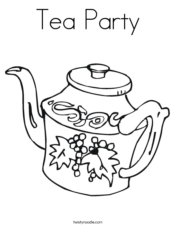 tea party coloring pages tea party coloring page twisty noodle pages tea coloring party