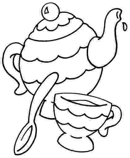 tea party coloring pages tea party coloring pages birthday printable party coloring tea pages