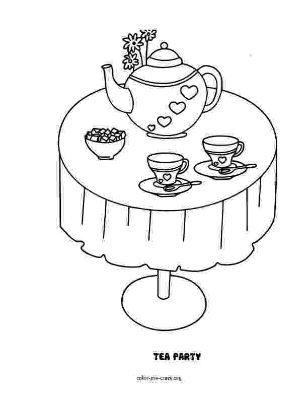 tea party coloring pages tea party coloring pages coloring party pages tea