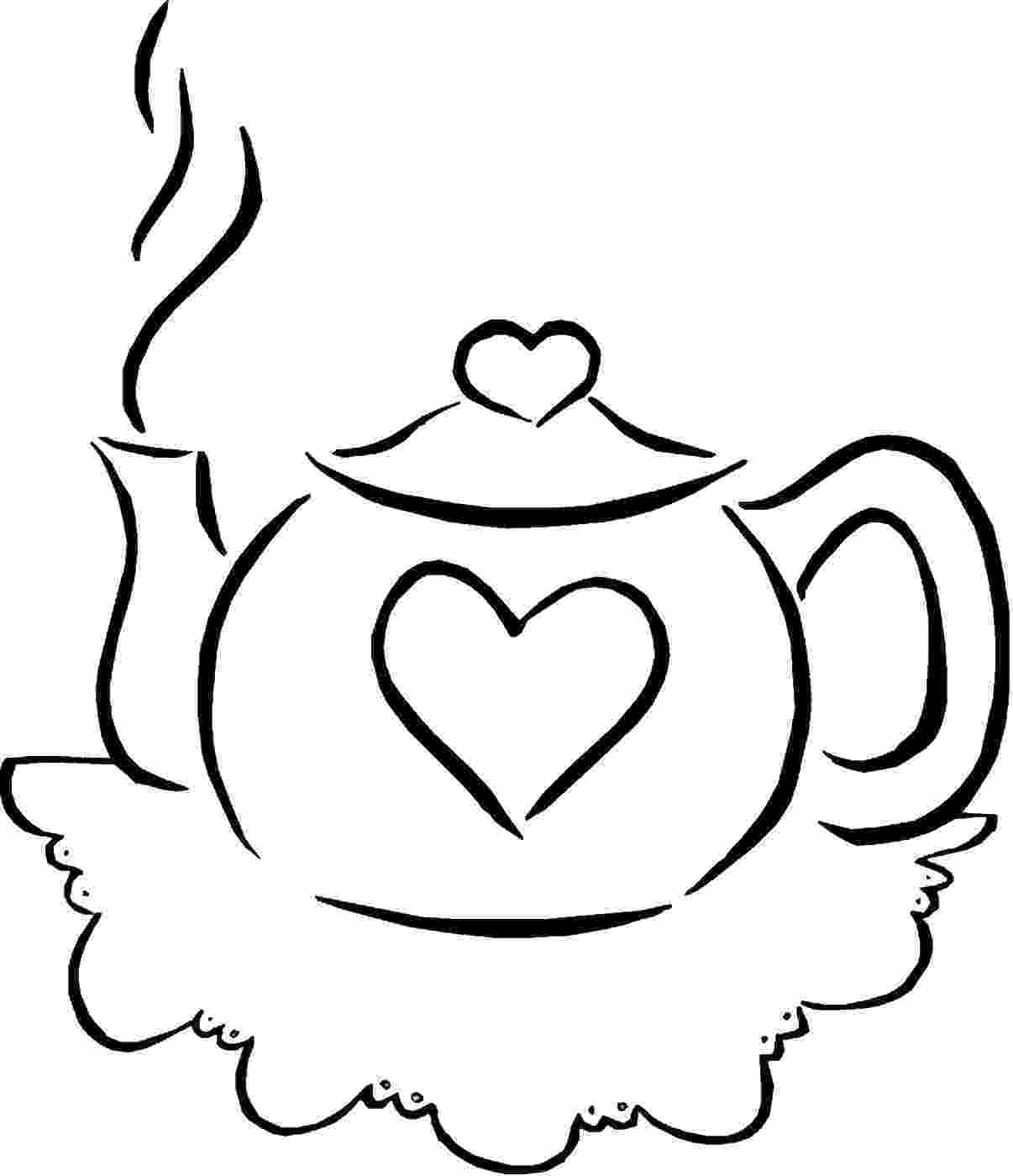 tea party coloring pages tea party coloring pages pages tea coloring party