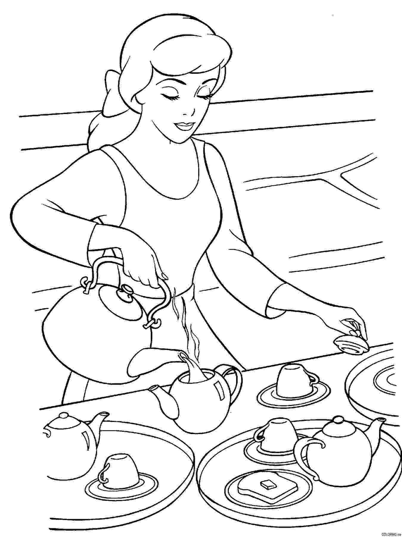 tea party coloring pages tea party coloring pages party pages coloring tea