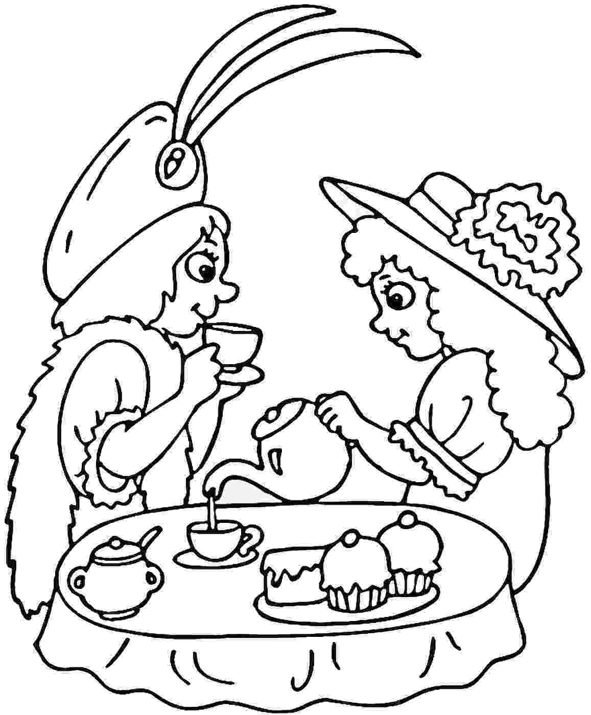 tea party coloring pages tea party coloring pages tea party pages coloring
