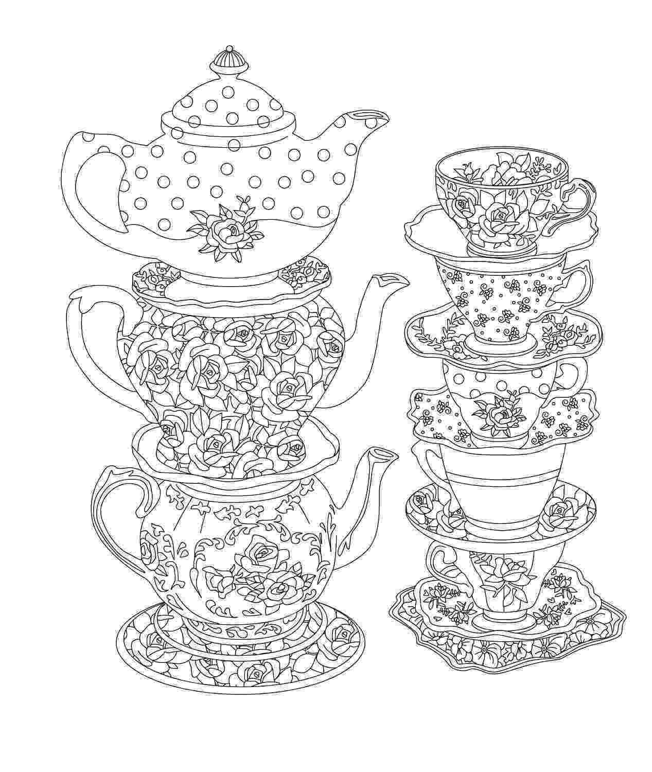 tea party coloring pages tea party coloring pages to download and print for free coloring tea pages party
