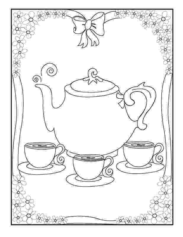 tea party coloring pages tea party coloring pages to download and print for free tea coloring pages party