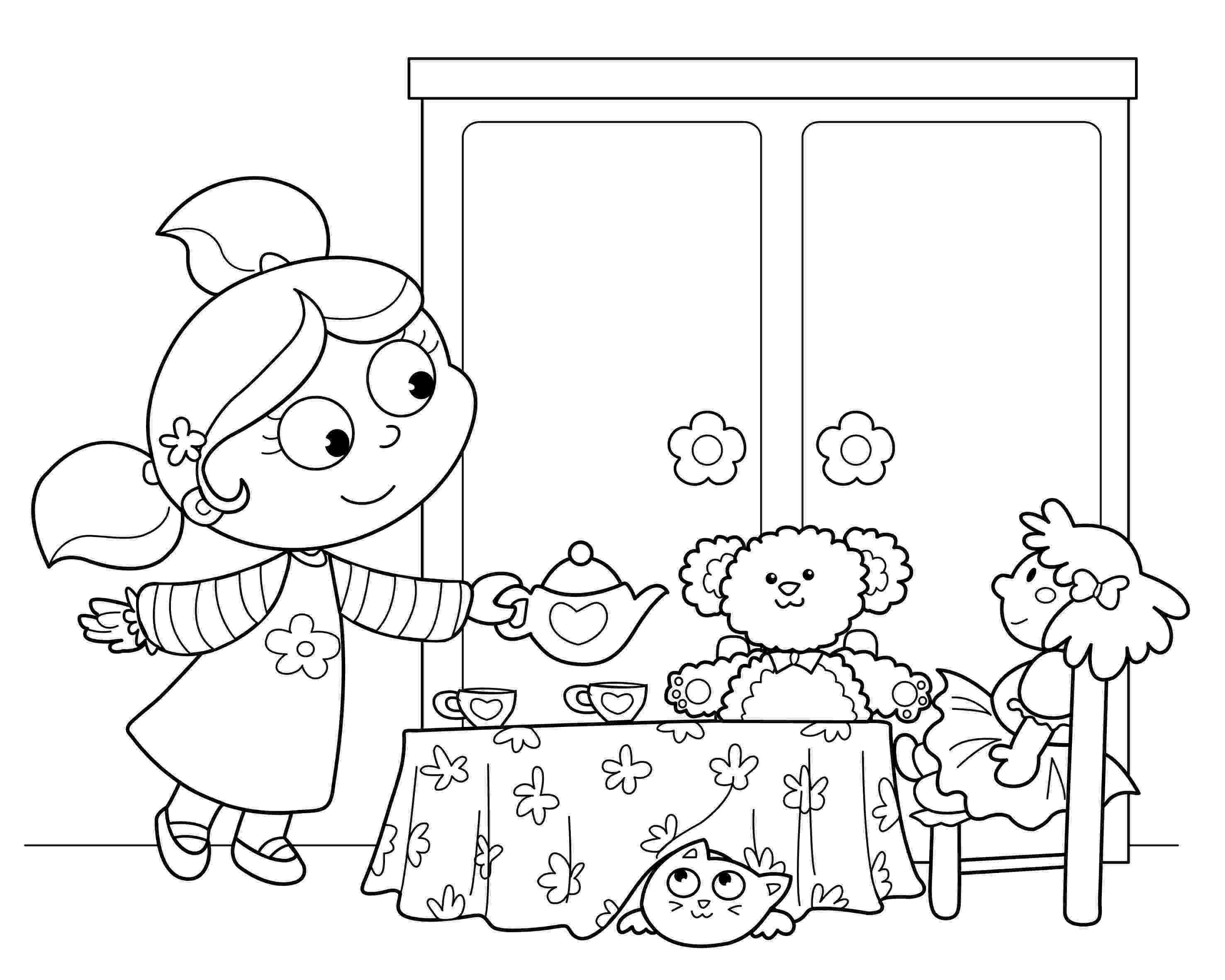 tea party coloring pages tea party coloring pages to download and print for free tea pages party coloring