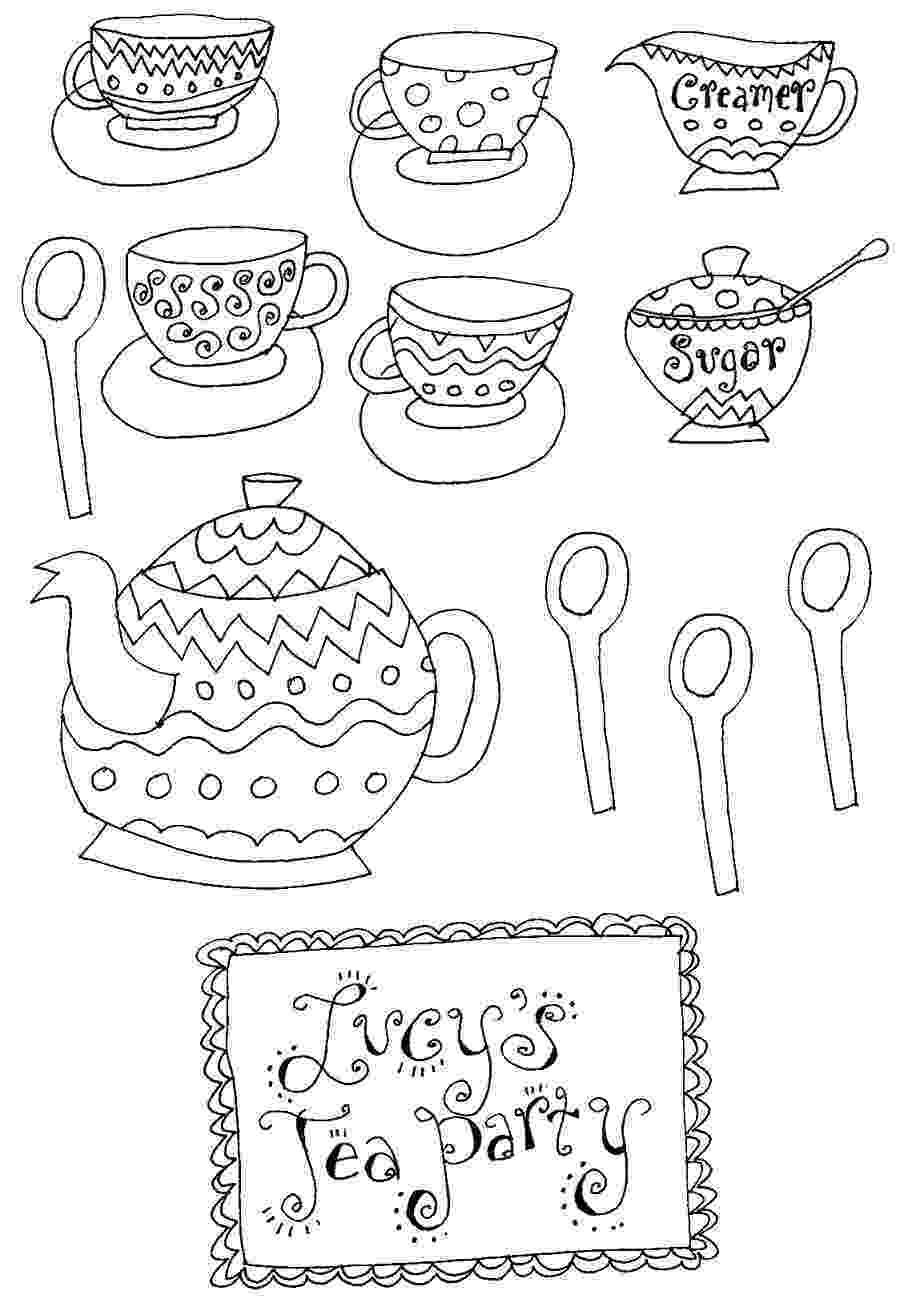 tea party coloring pages tea party coloring pages to download and print for free tea party coloring pages