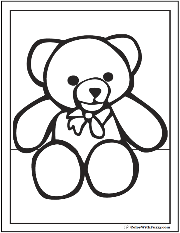 teddy bear coloring pictures printable teddy bear coloring pages for kids cool2bkids coloring bear teddy pictures