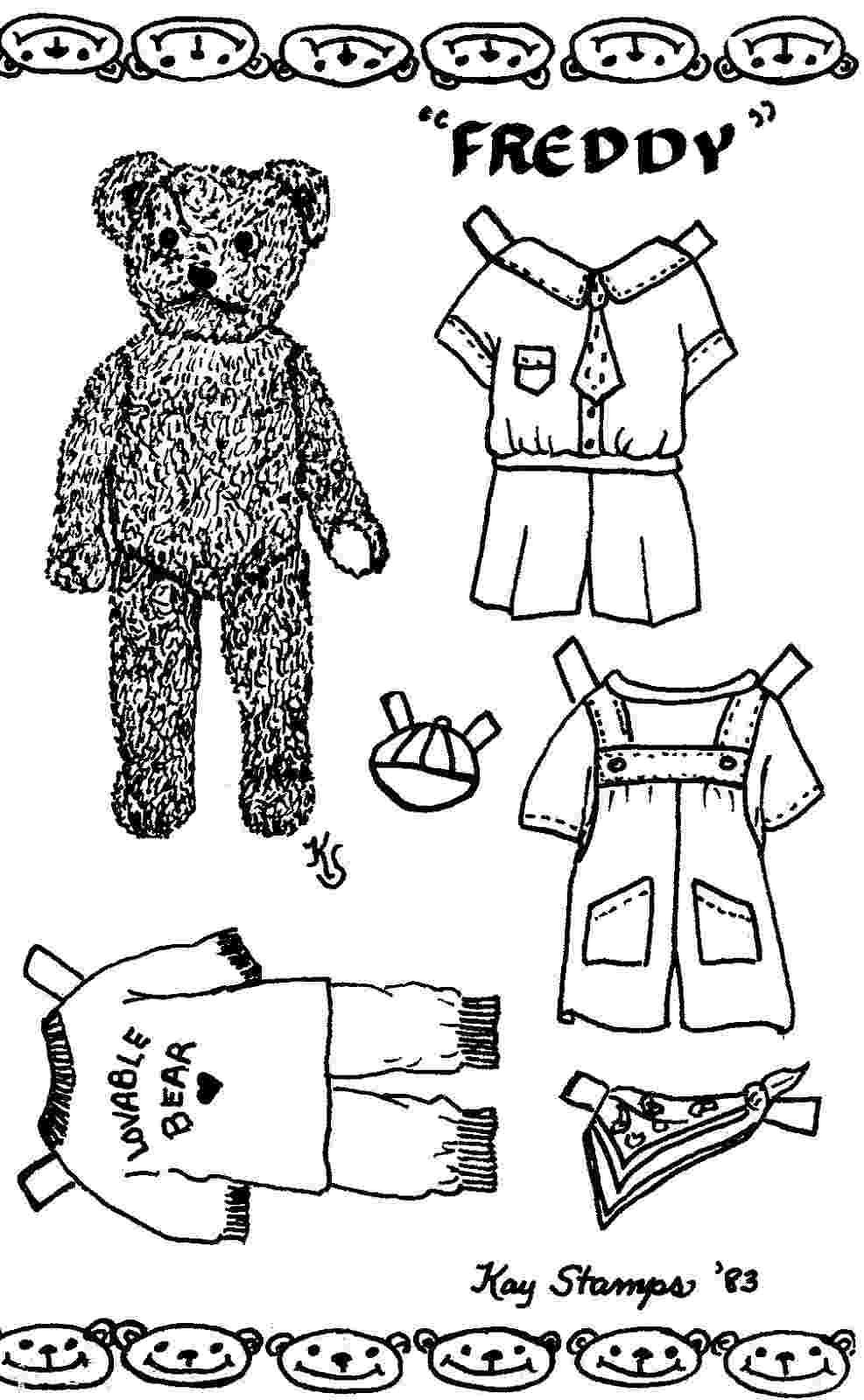 teddy bear paper dolls regency teddy bear archives paper thin personas dolls teddy bear paper