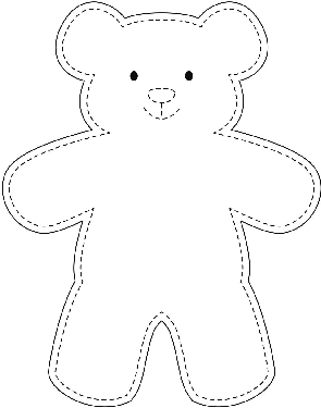 teddy bear paper dolls sample teddy bear template wikihow bear dolls teddy paper