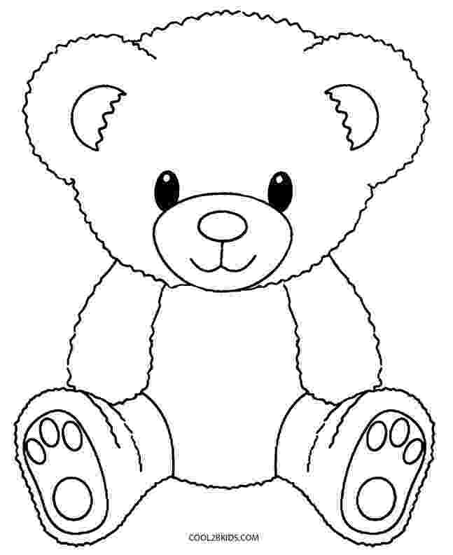 teddy to colour free printable teddy bear coloring pages for kids teddy to colour 1 1