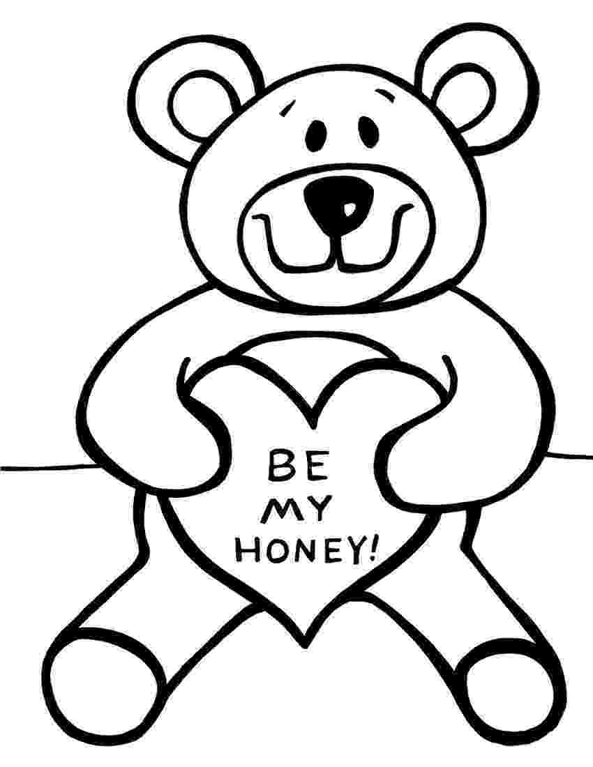 teddy to colour free printable teddy bear coloring pages for kids teddy to colour 1 2