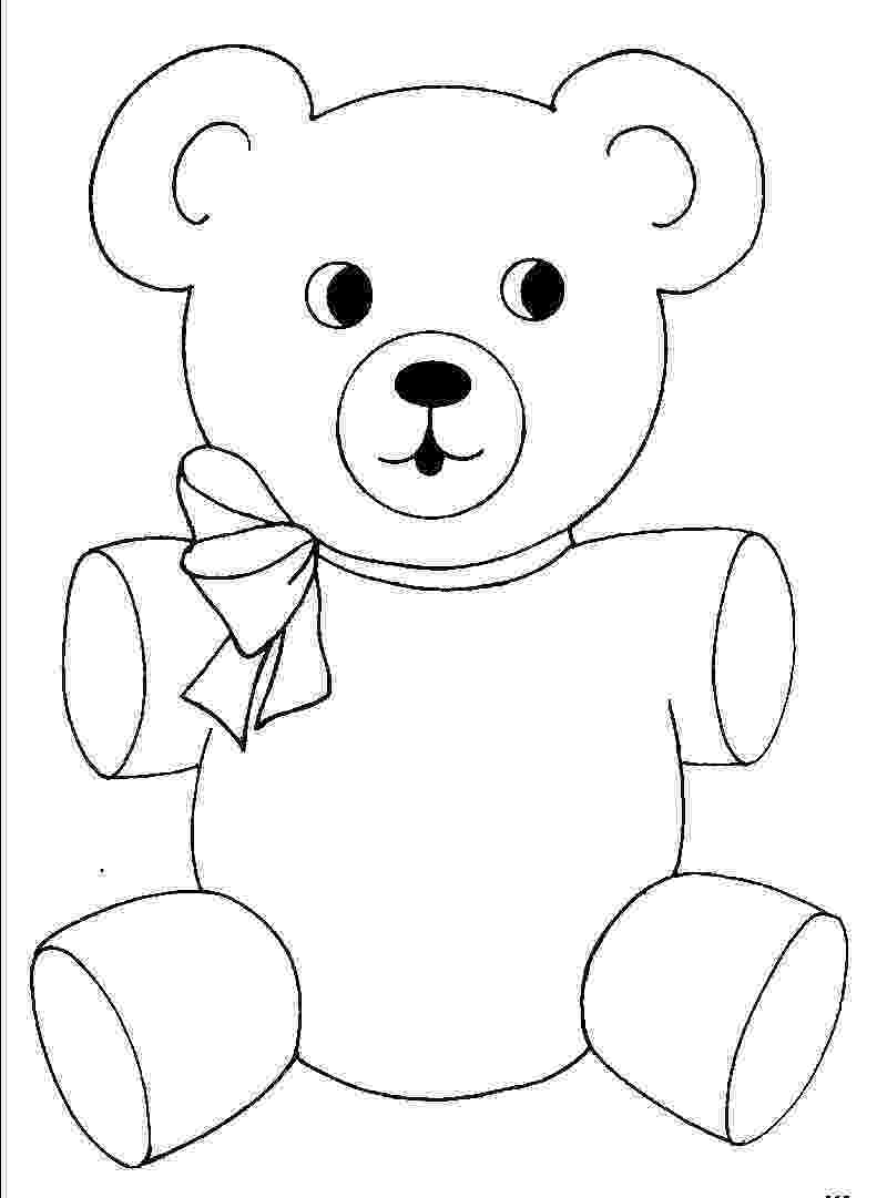 teddy to colour free printable teddy bear coloring pages for kids to teddy colour 1 1