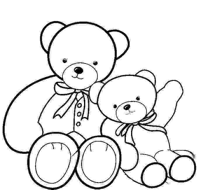 teddy to colour printable teddy bear coloring pages for kids cool2bkids to teddy colour