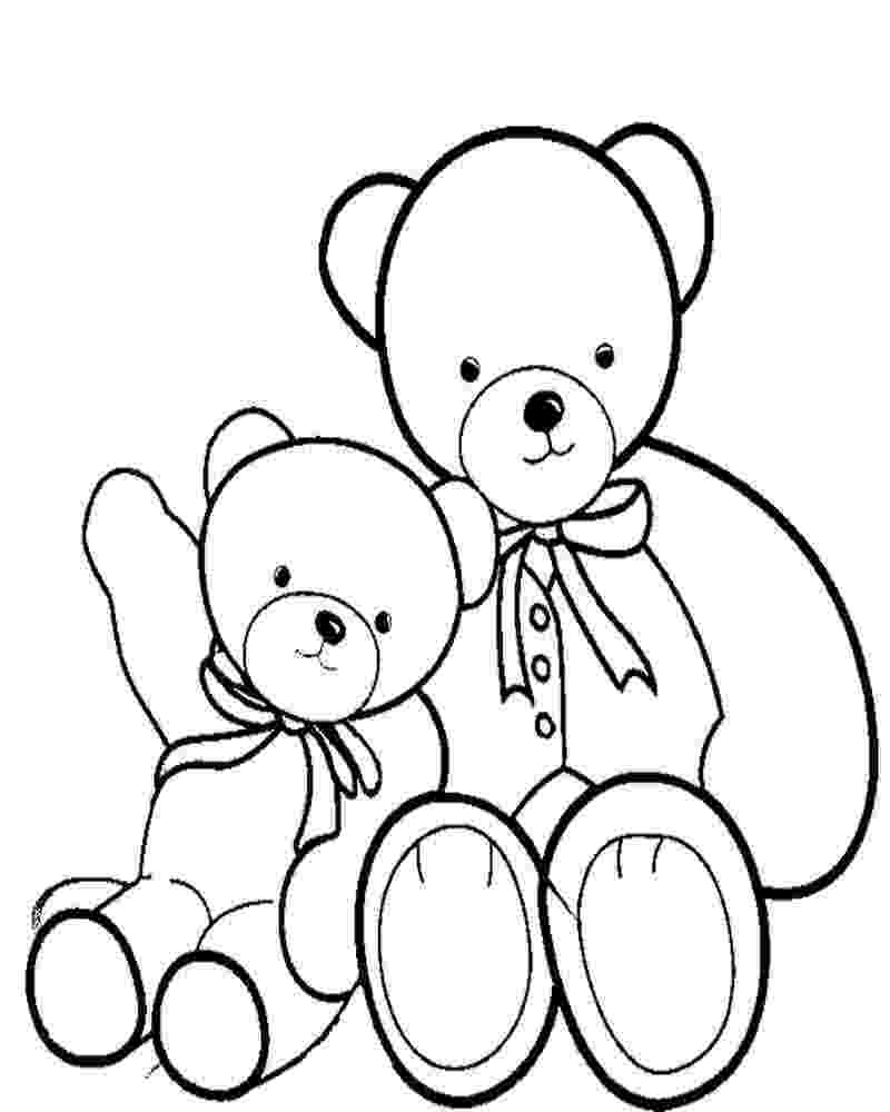 teddy to colour teddy bear coloring pages for girls to print for free colour teddy to