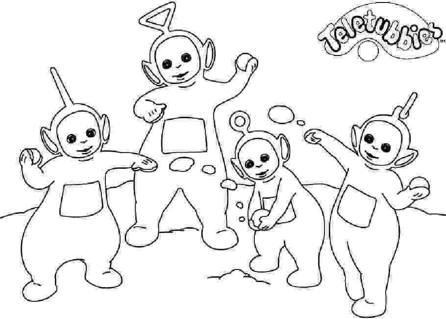 teletubbies coloring teletubbies fargelegging for barn tegninger for utskrift teletubbies coloring