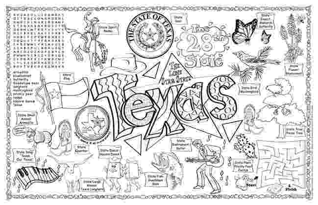 texas coloring page 9 best images of worksheet about texas texas symbols page coloring texas