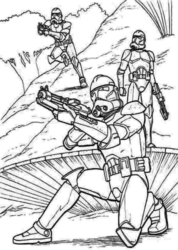 the clone wars coloring pages the clone troopers standby in star wars coloring page the wars coloring clone pages