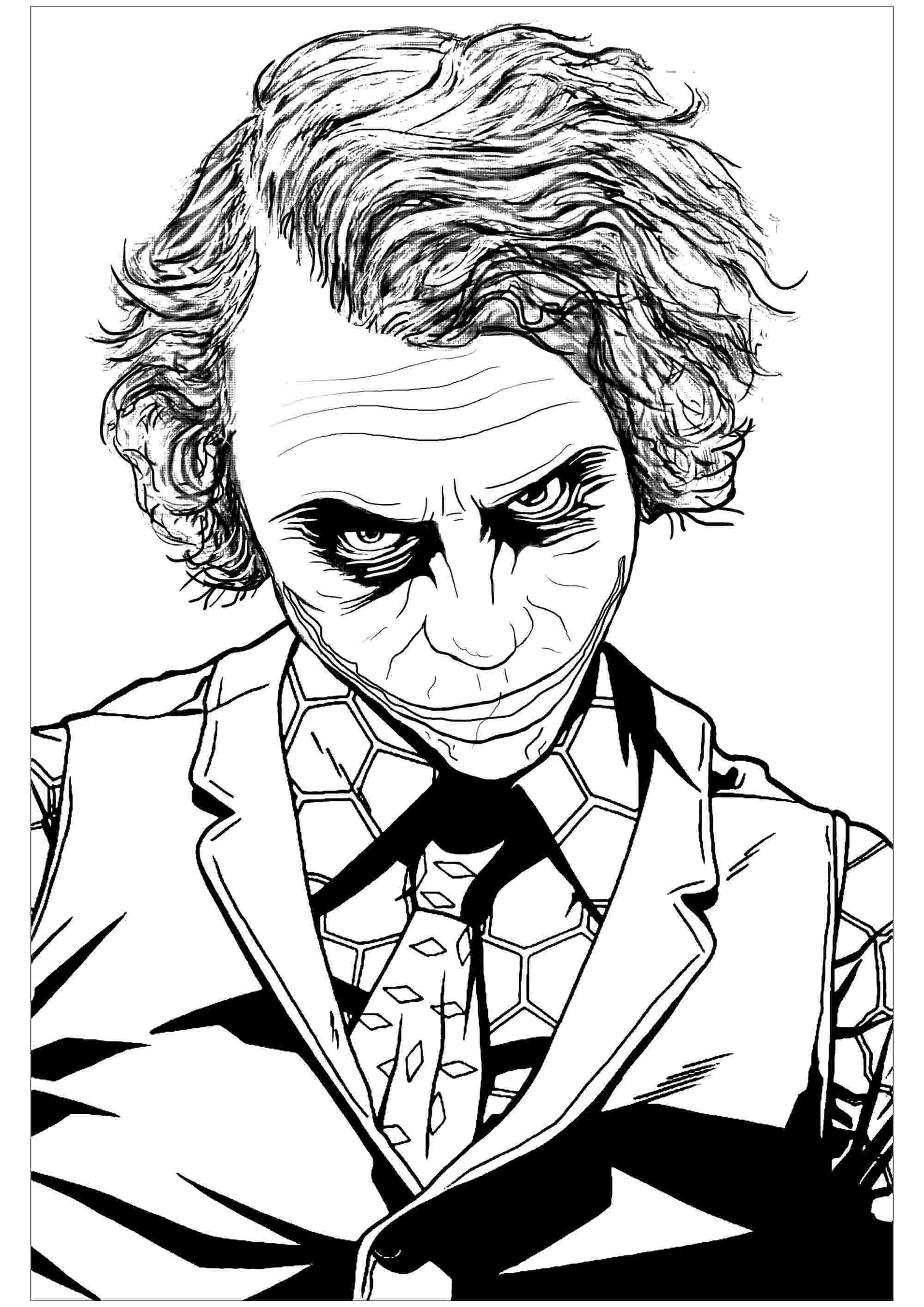 the joker colouring pages joker coloring pages to download and print for free pages the joker colouring