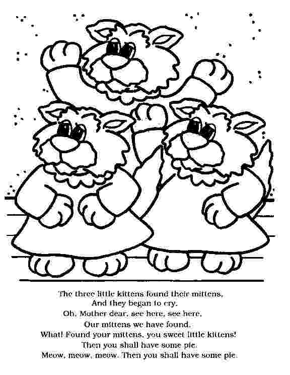 three little kittens coloring pages 1000 images about three little kittens on pinterest little pages kittens three coloring