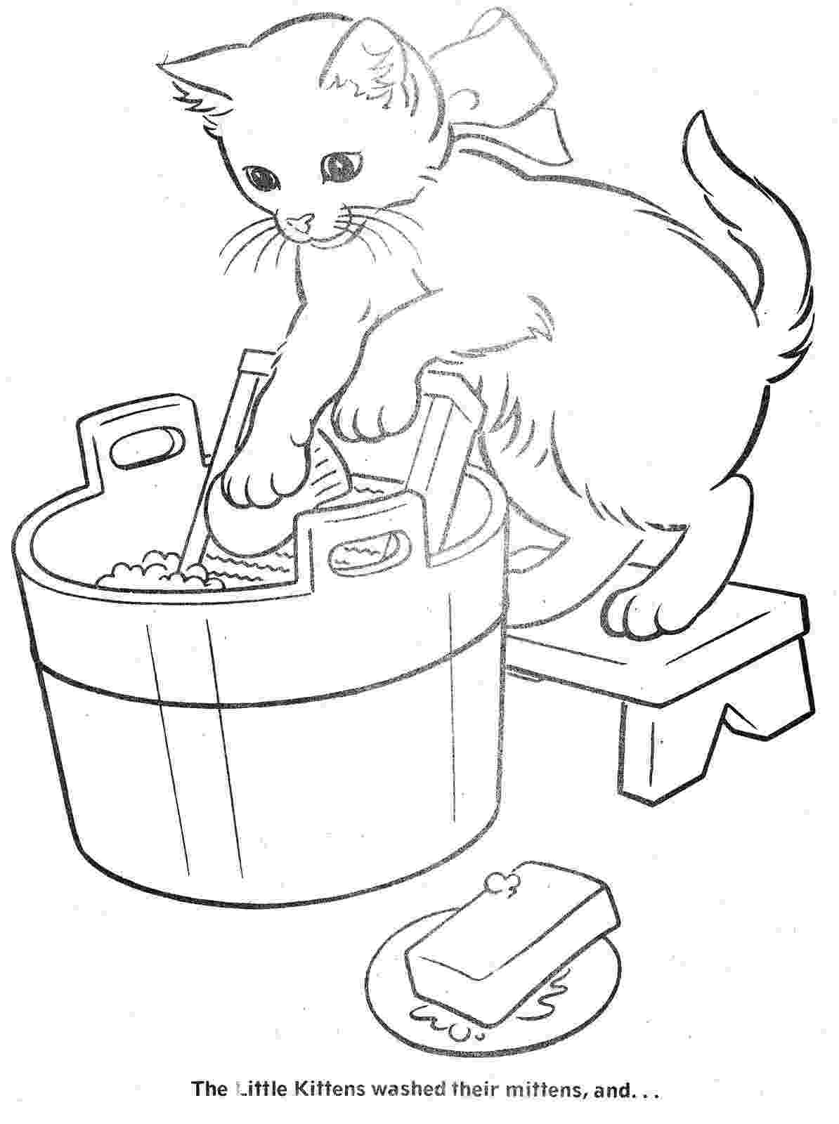 three little kittens coloring pages inkspired musings 3 little kittens nursery rhyme fun three coloring little kittens pages