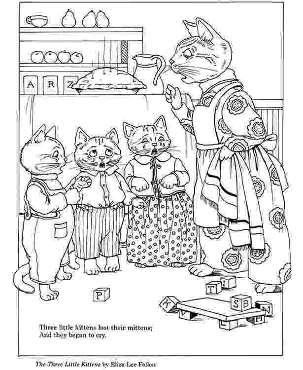 three little kittens coloring pages three little kittens coloring page letter k activities three coloring pages kittens little